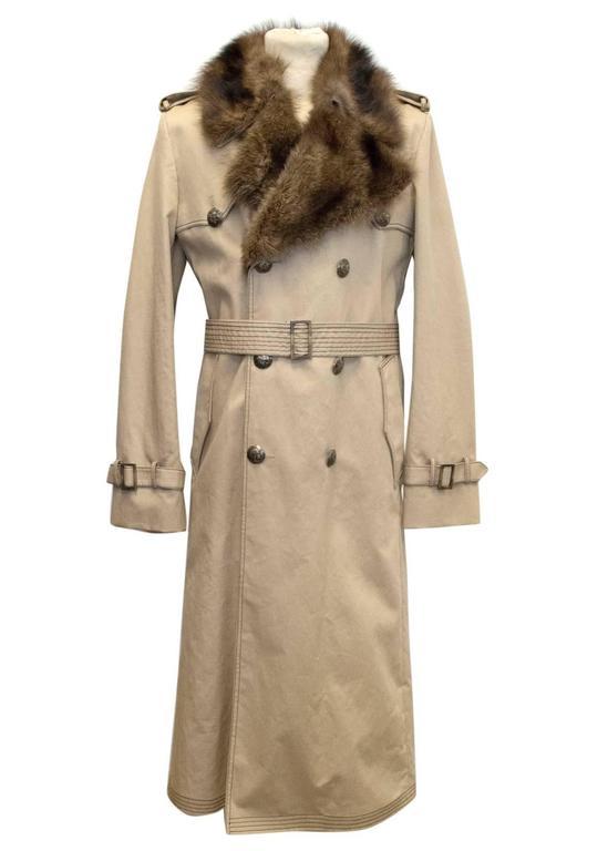 Mens Sheepskin Coat >> Fendi Men's detachable fur lined trench coat For Sale at ...