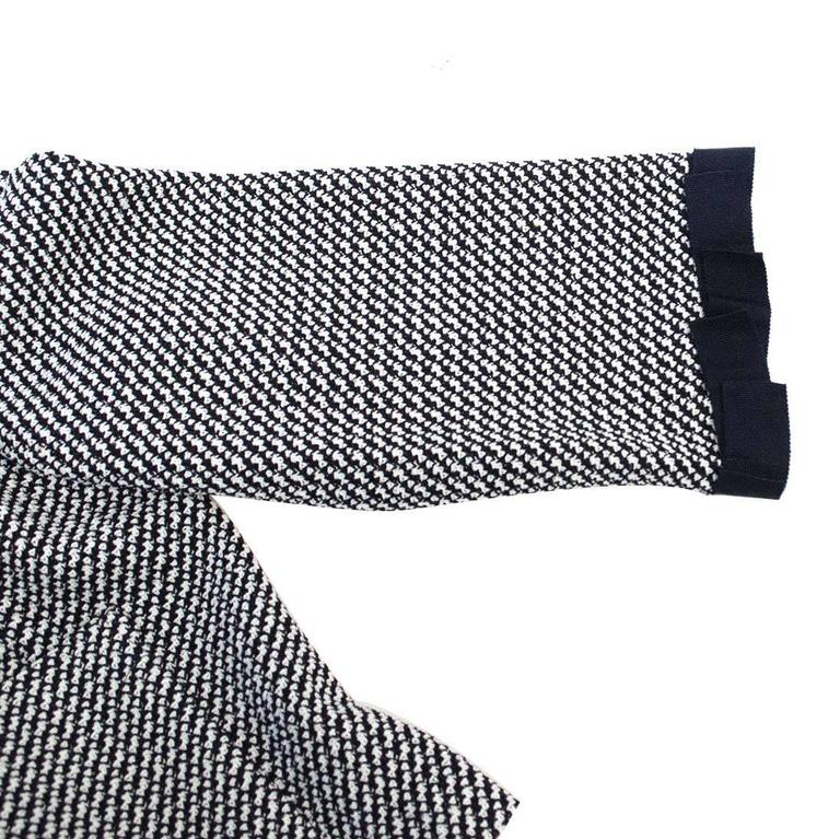 St. John Houndstooth Navy & White Dress and Jacket 8