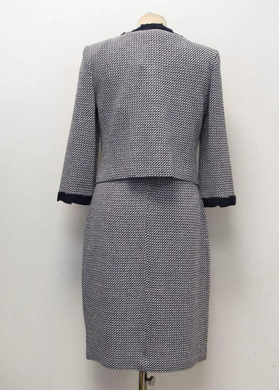 St. John Houndstooth Navy & White Dress and Jacket 5