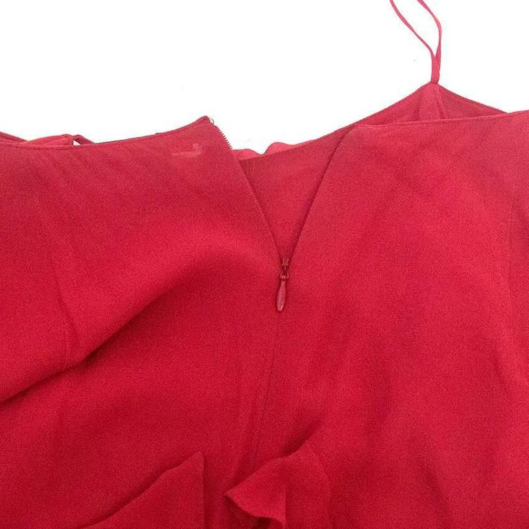 Roberta Furlanetto Red silk tiered skirt 5