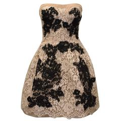 Dolce & Gabbana Couture Lace Strapless Dress