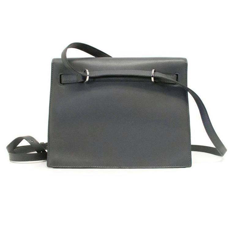 Hermes Danse Kelly Bag In Grey With Palladium Hardware For