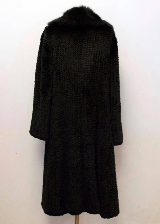 Hockley Black Rabbit Fur Long Coat For Sale At 1stdibs