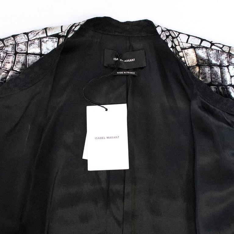 Isabel Marant Metallic silver leather Jacket 6