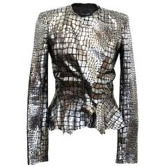 Isabel Marant Metallic silver leather Jacket