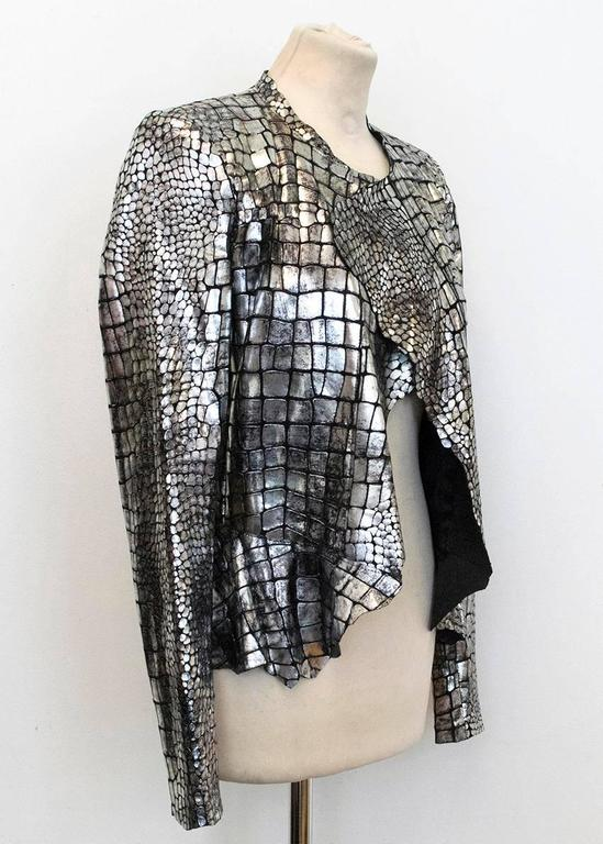 Isabel Marant Metallic silver leather Jacket 3