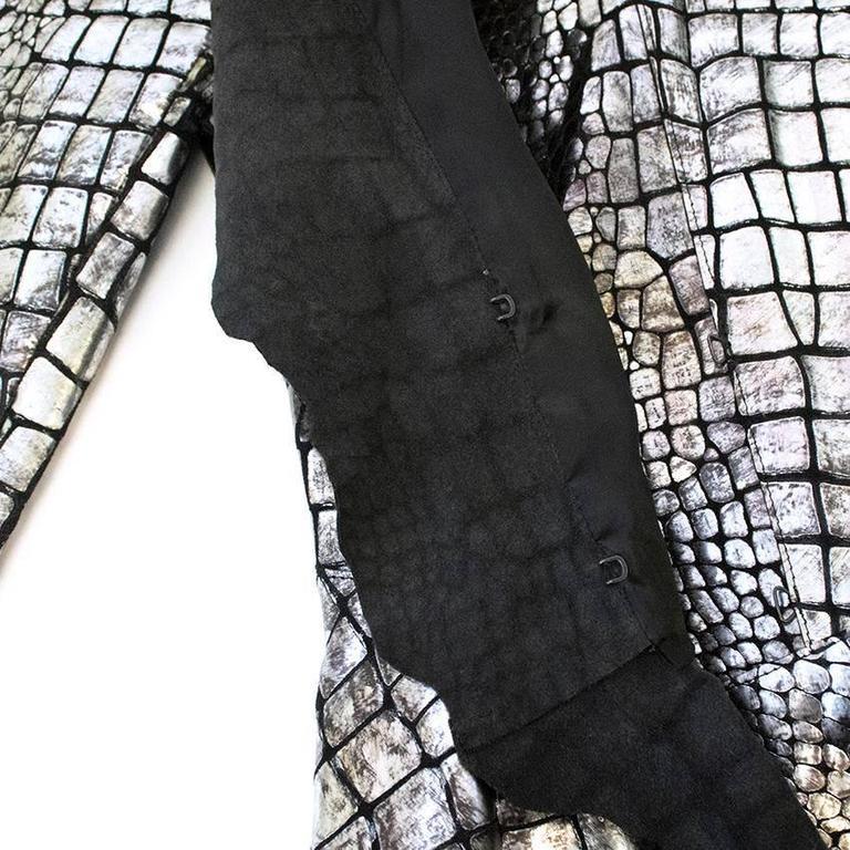 Isabel Marant Metallic silver leather Jacket 7