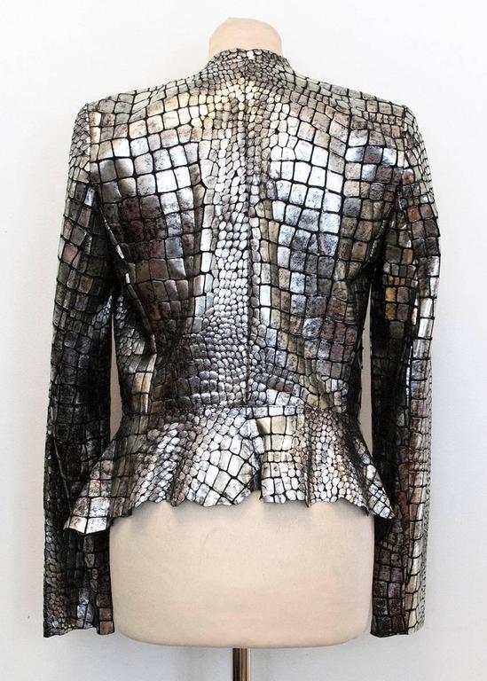 Isabel Marant Metallic silver leather Jacket 5