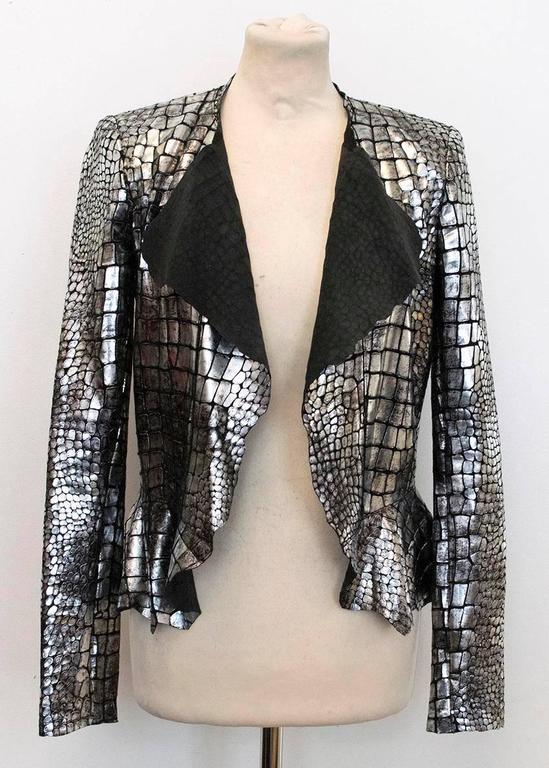 Isabel Marant Metallic silver leather Jacket 4
