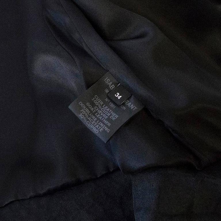 Isabel Marant Metallic silver leather Jacket 8