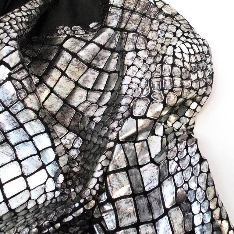 Isabel Marant Metallic silver leather Jacket 10