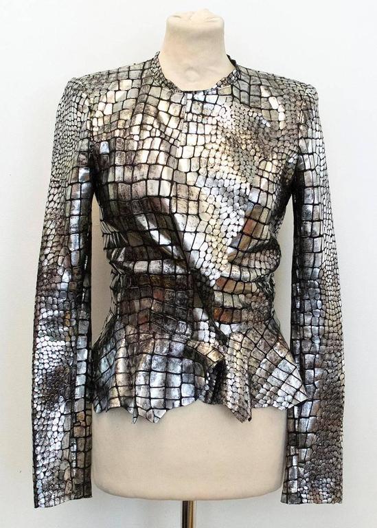 Isabel Marant Metallic silver leather Jacket 2