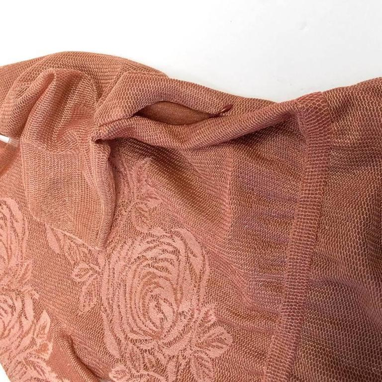 Vionnet Mesh Copper Bodysuit With Embroidered Roses For Sale At 1stdibs