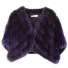 Oscar de la Renta Dark Purple Dyed Sable Bolero