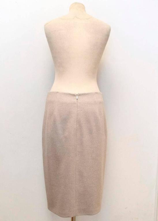 Women's MaxMara Beige Wool Pencil Skirt  For Sale