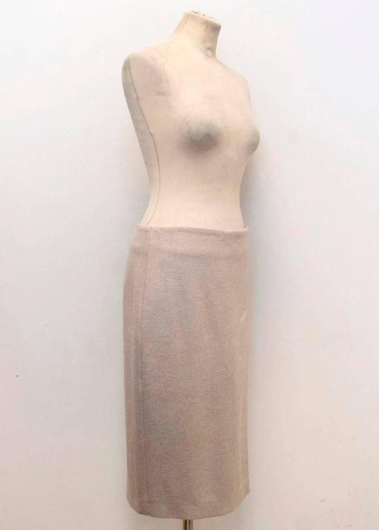 MaxMara Beige Wool Pencil Skirt  In New Never_worn Condition For Sale In London, GB