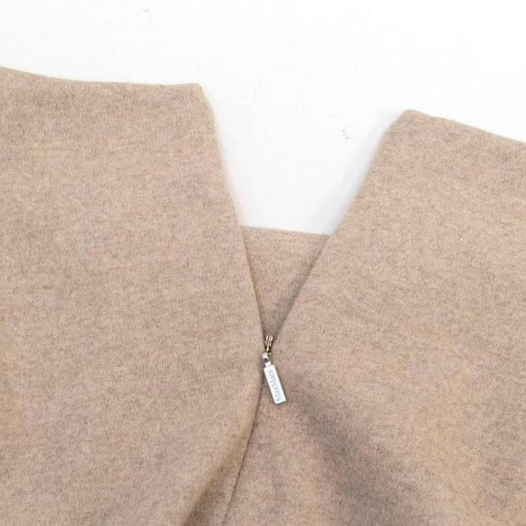 MaxMara Beige Wool Pencil Skirt  For Sale 2