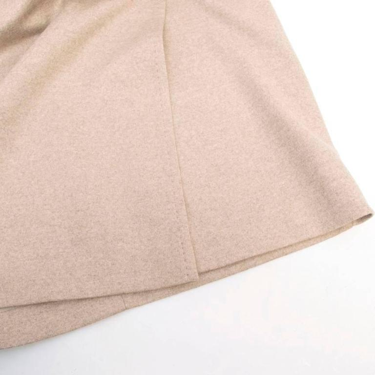 MaxMara Beige Wool Pencil Skirt  For Sale 3