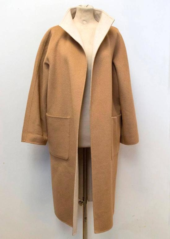 Women's MaxMara Tan And Beige Reversible Coat For Sale