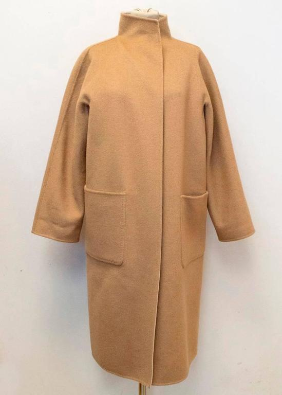 MaxMara Tan And Beige Reversible Coat For Sale 2