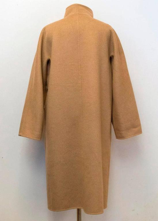 MaxMara Tan And Beige Reversible Coat For Sale 3