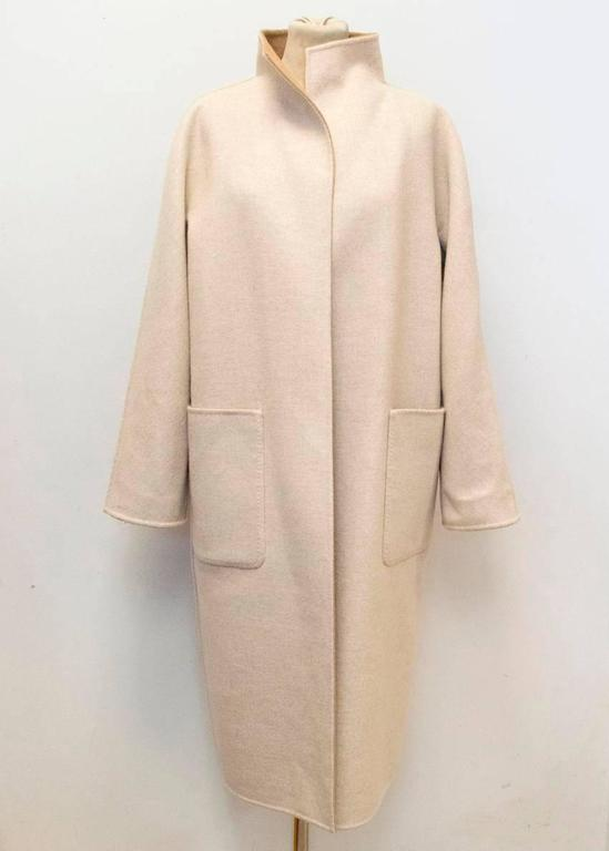 MaxMara Tan And Beige Reversible Coat For Sale 4