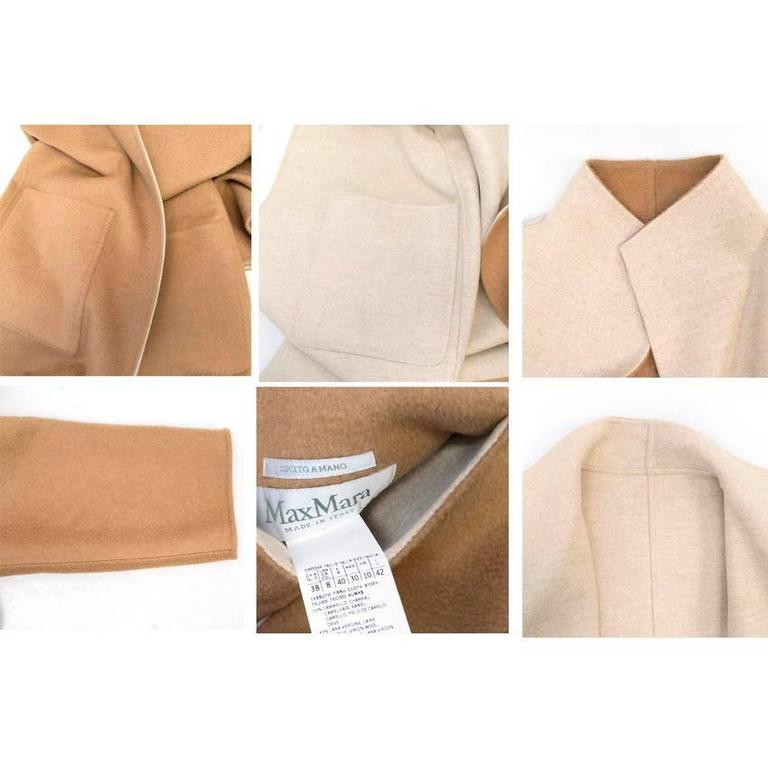 MaxMara Tan And Beige Reversible Coat For Sale 5