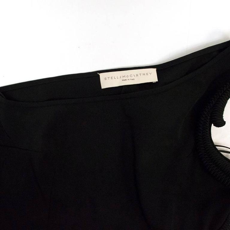 Stella McCartney Black One Shoulder Sleeveless Gown For Sale 6