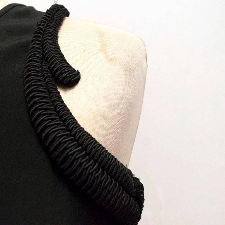 Stella McCartney Black One Shoulder Sleeveless Gown For Sale 3
