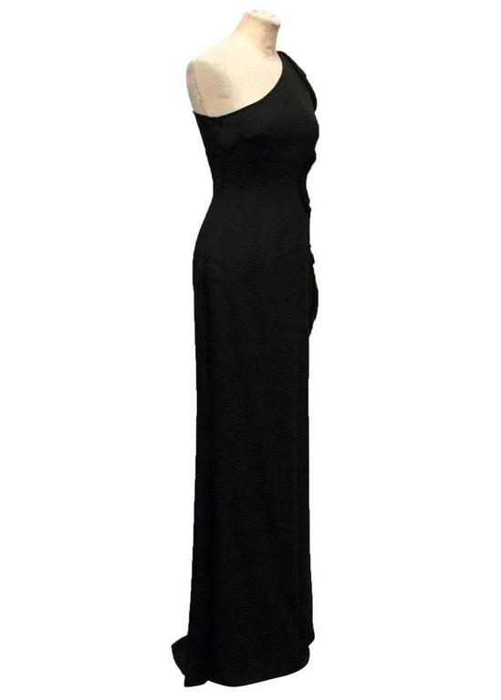 Stella McCartney Black One Shoulder Sleeveless Gown In Excellent Condition For Sale In London, GB