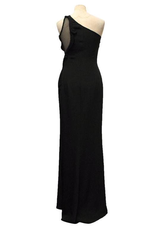 Women's Stella McCartney Black One Shoulder Sleeveless Gown For Sale