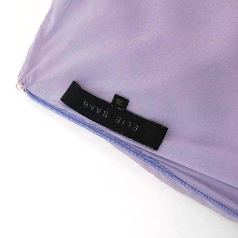 Elie Saab Lilac Silk One Shoulder Dress For Sale 1