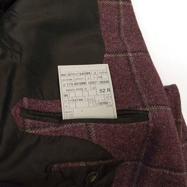 Tom Ford 52R Eggplant Wool Blazer For Sale 3