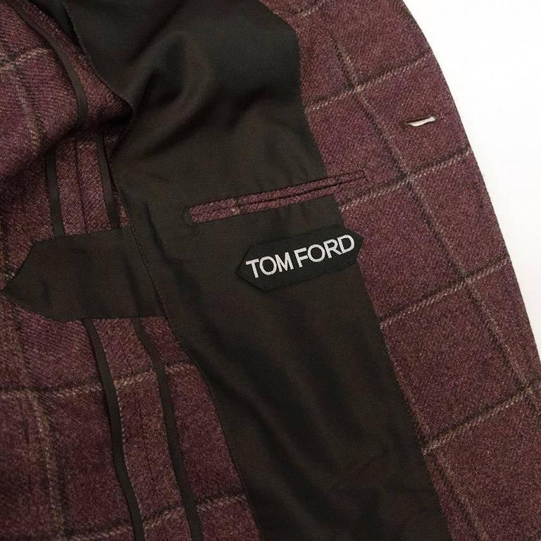 Tom Ford 52R Eggplant Wool Blazer For Sale 1