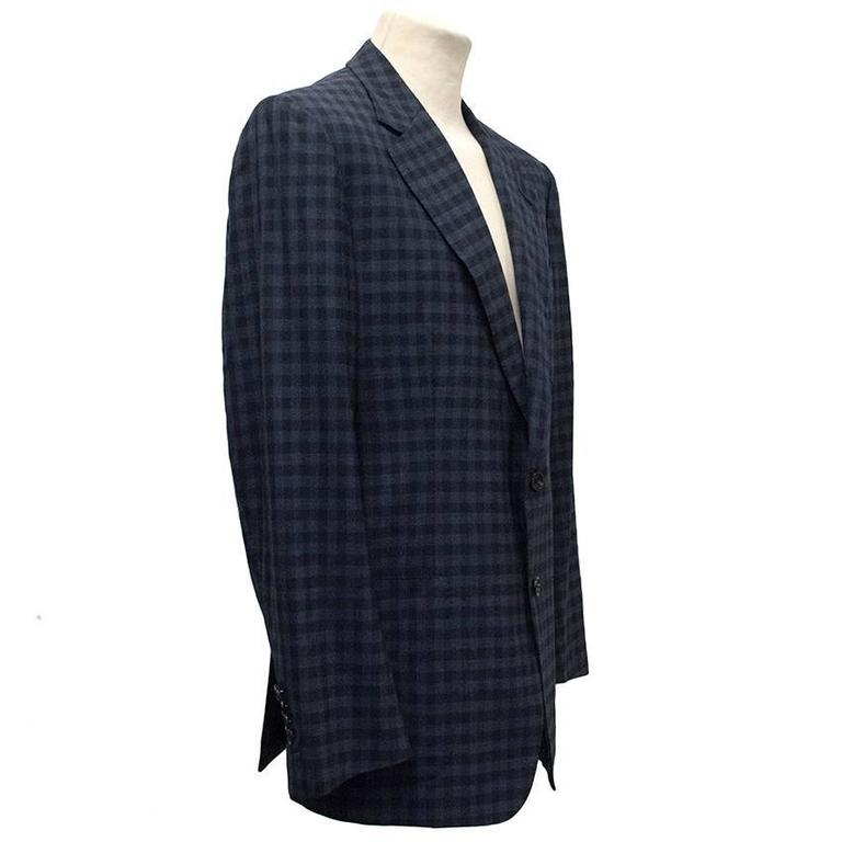 Tom Ford Blue Checkered Blazer 2