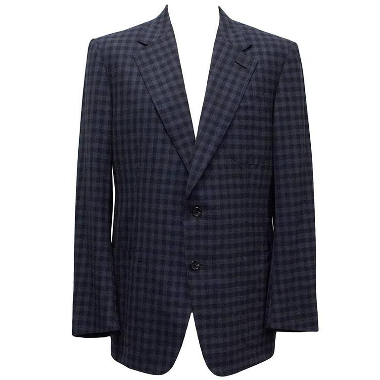 Tom Ford Blue Checkered Blazer 6