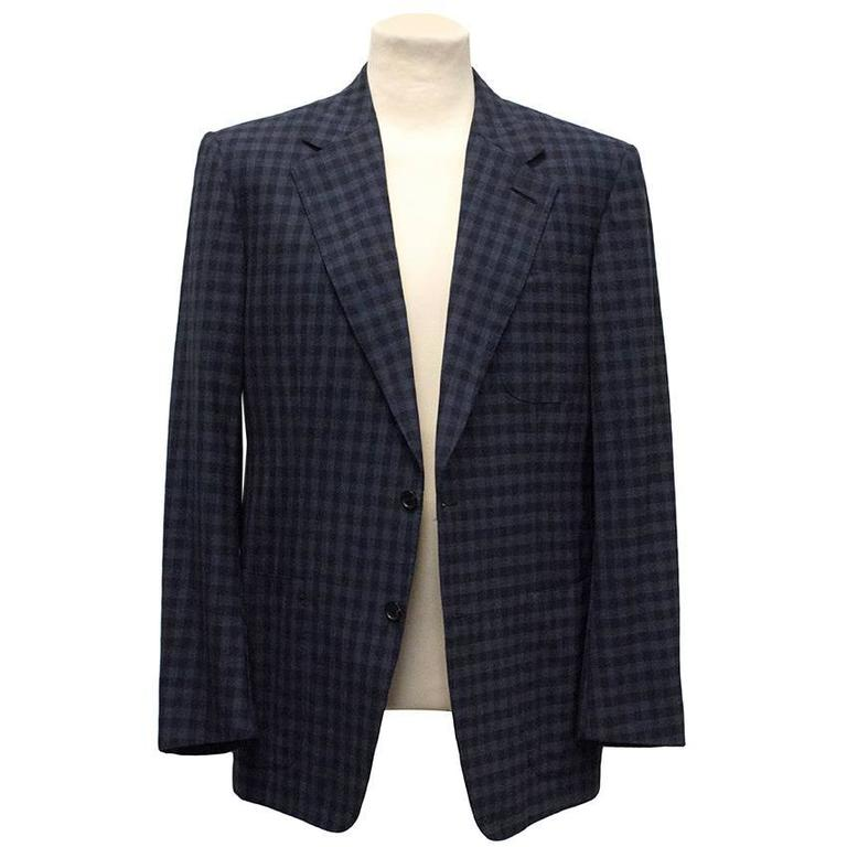Tom Ford Blue Checkered Blazer 4