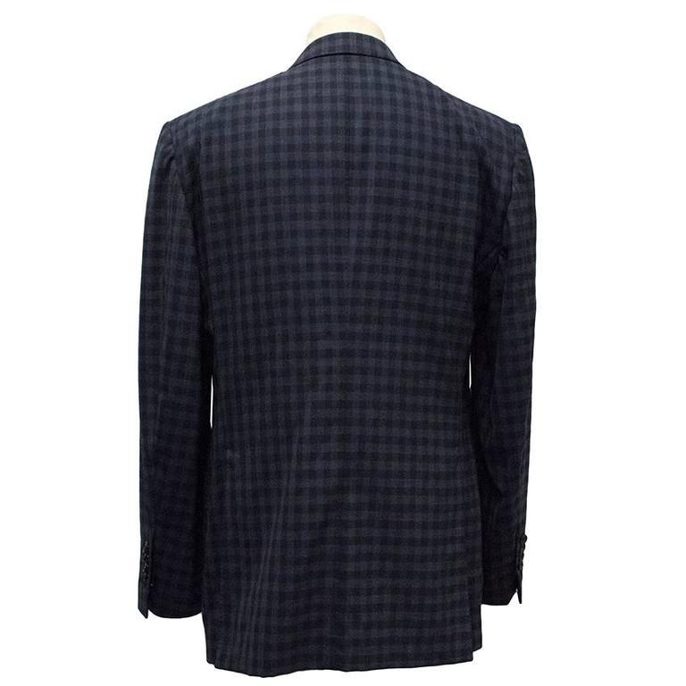Tom Ford Blue Checkered Blazer 3
