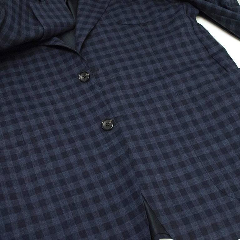 Tom Ford Blue Checkered Blazer 8