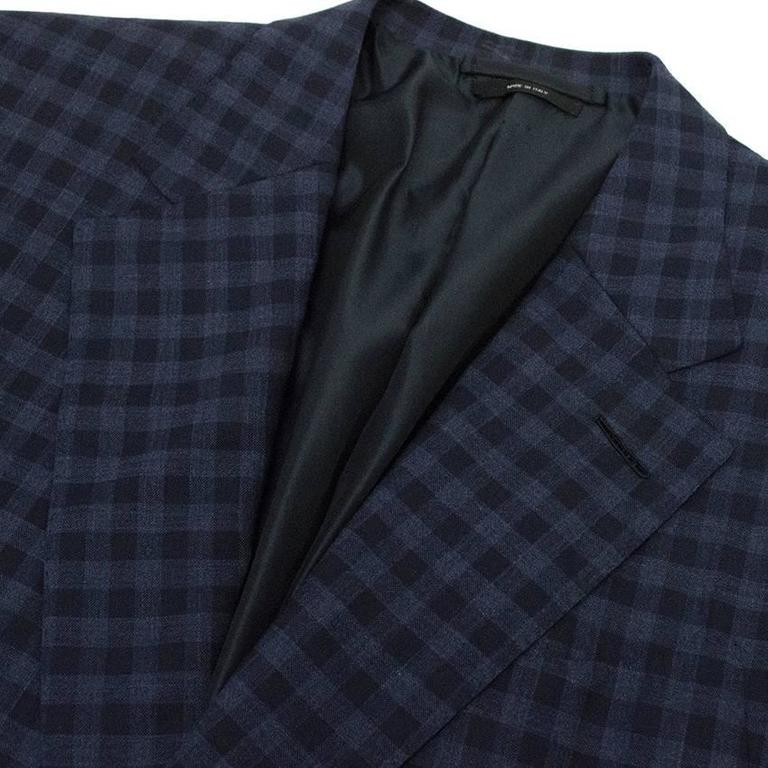 Tom Ford Blue Checkered Blazer 9