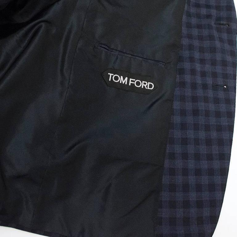 Tom Ford Blue Checkered Blazer 7