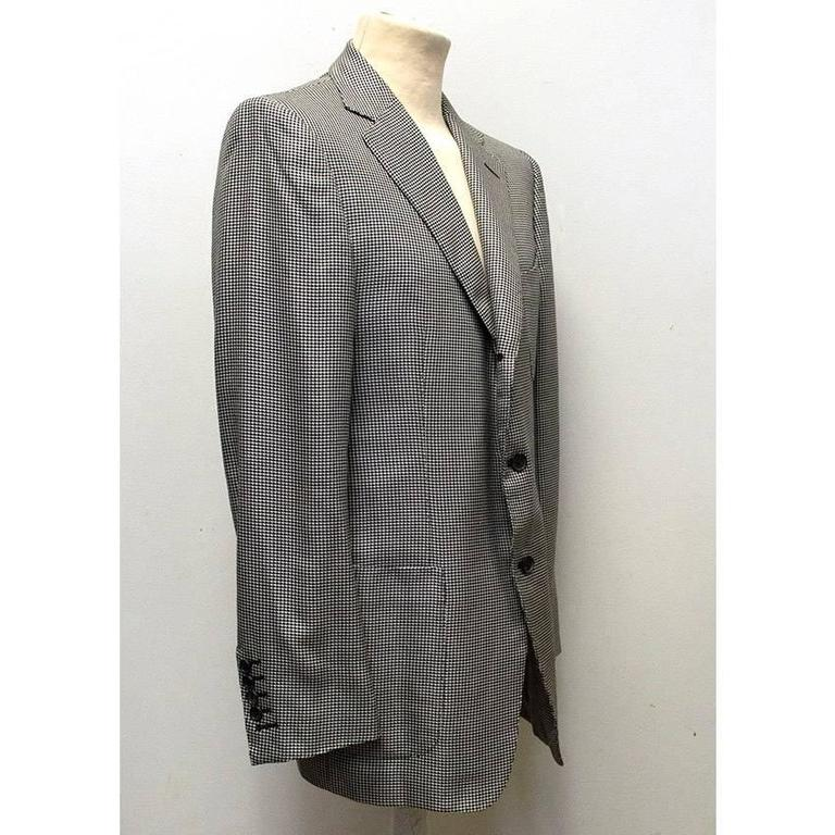 Tom Ford Black and White Dog Tooth Check Blazer  4