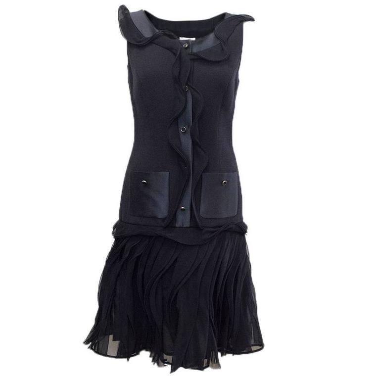 Oscar de la Renta Buttoned Dress with Pockets 1