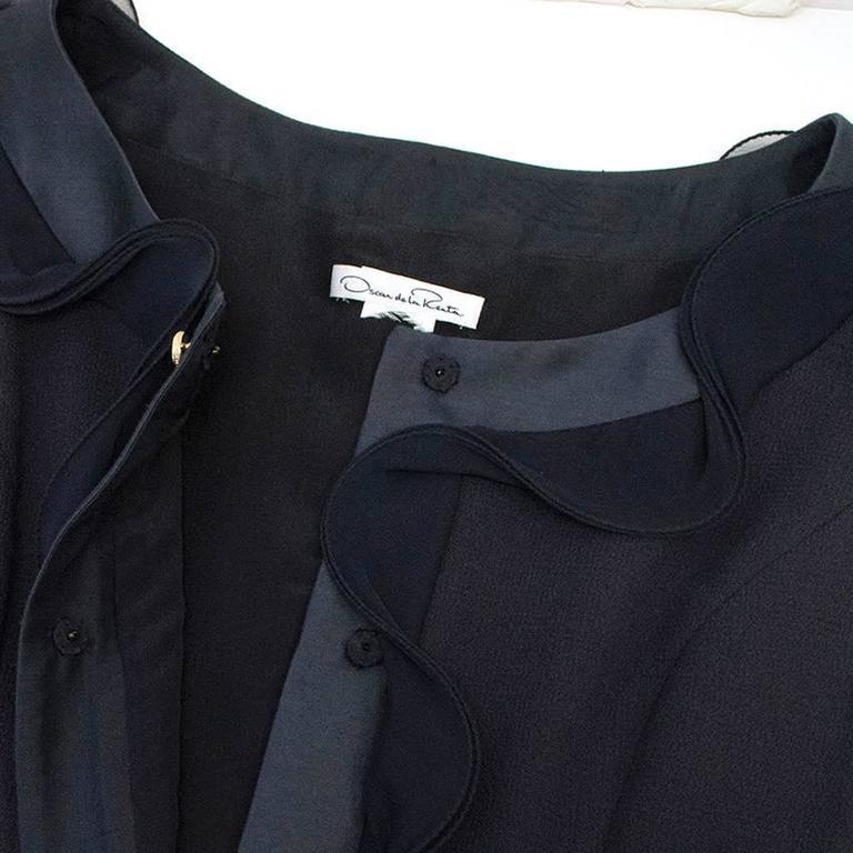 Oscar de la Renta Buttoned Dress with Pockets 4