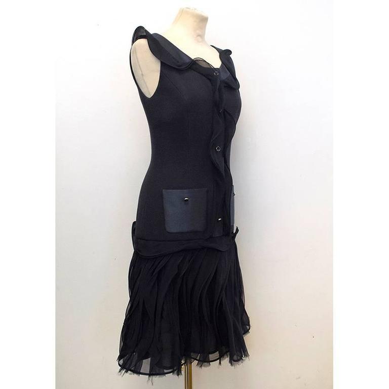 Oscar de la Renta Buttoned Dress with Pockets 5