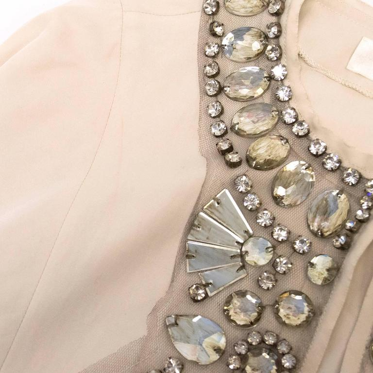 Lanvin Cream Embellished Tunic Dress 8