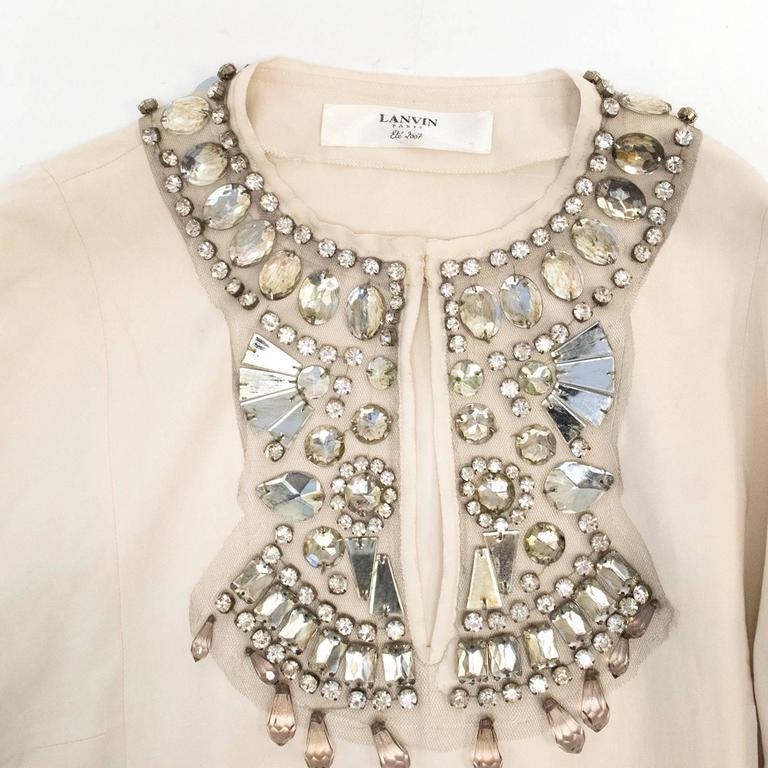 Lanvin Cream Embellished Tunic Dress 5