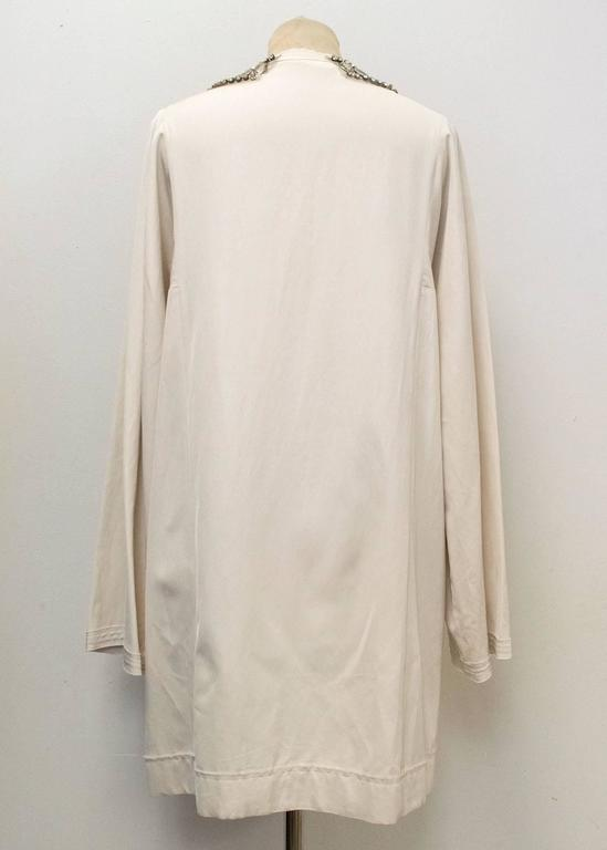 Lanvin Cream Embellished Tunic Dress 4