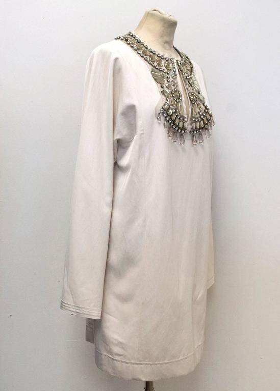 Lanvin Cream Embellished Tunic Dress 3
