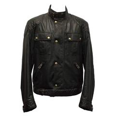 Belstaff Dark Brown Leather Jacket